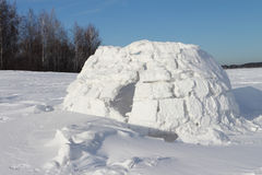 Snow construction of igloo Stock Images