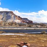 Snow at the Continental divide. Beautiful snow in the Mesa at the continental divide near Gallup New Mexico royalty free stock photography