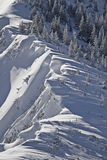 Snow cornices Royalty Free Stock Images
