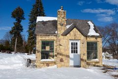 Snow Cottage Royalty Free Stock Image