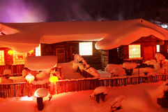 The snow country in China Royalty Free Stock Photo