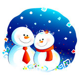 Snow couple Royalty Free Stock Image
