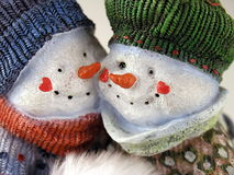 Snow Couple 2 Royalty Free Stock Photos