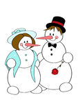 Snow couple Stock Photo