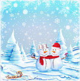 Snow Couple Stock Images