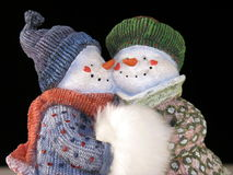 Snow Couple 3 royalty free stock images