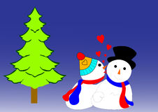 Snow Couple Royalty Free Stock Images