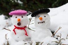 Snow Couple Royalty Free Stock Photos