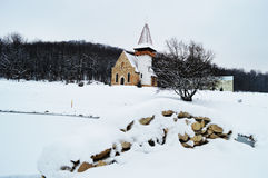 Snow Cover Chapel Stock Photography