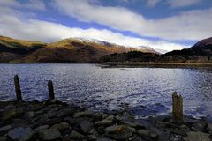 The snow cover fells Royalty Free Stock Photo