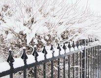 Snow cover fence Stock Photos