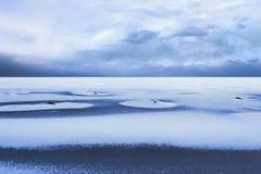 Snow coverd frozen sea Royalty Free Stock Photos
