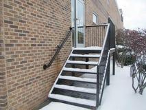 Snow-covered лестницы Стоковые Изображения RF