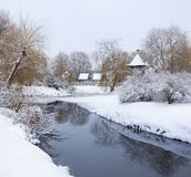 Snow-covered ландшафт Стоковые Изображения RF