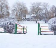 Snow-covered ландшафт Стоковое Изображение