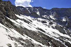 Snow covered alpine landscape on Colorado 14er Little Bear Peak Royalty Free Stock Photo