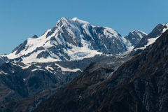 Snow covered alpine peaks in Southern Alp Stock Image