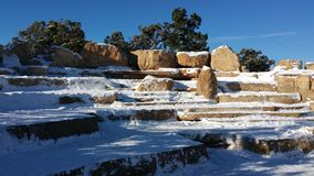 Snow Covered Ampitheater Stock Photo