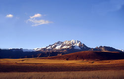 Snow covered Andes in Peru Royalty Free Stock Image
