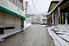 Snow covered around walkway Royalty Free Stock Photography