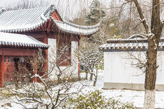 Snow covered The art world of Red Mansions royalty free stock photo