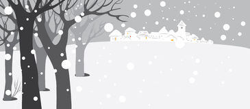 Snow covered background Stock Photo
