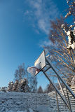 A snow covered basketball court Stock Photography