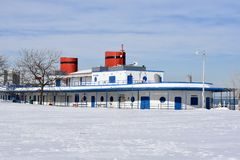 Snow Covered Bath House Royalty Free Stock Photography