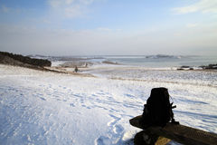 Snow covered beach Stock Photography