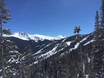 Snow Covered Mountain Tops. Parrys Peak / Bear Claw Mountain at Winter Park, Colorado Stock Images