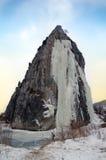 Snow covered beautiful mountain peaks Stock Photos