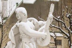 Snow-covered beeldhouwwerk Royalty-vrije Stock Fotografie