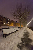 Snow Covered Bench III Royalty Free Stock Photography