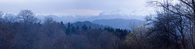 Snow-covered Berge Lizenzfreie Stockfotografie