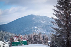 Snow-covered berglandschap Royalty-vrije Stock Foto