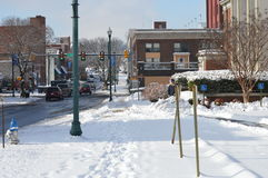 Snow-covered Blok Stock Foto's