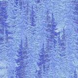Snow-covered bos van sparkerstmis. naadloos beeld Stock Foto's
