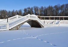 Snow-covered bridge Stock Photo