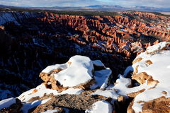 Snow covered Bryce Canyon National Park Royalty Free Stock Photo