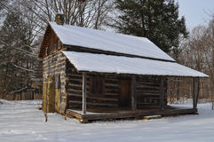Snow covered cabin or lodge Stock Photography