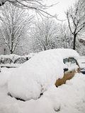 Snow covered car Stock Image
