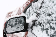 Snow-covered Car Royalty Free Stock Image