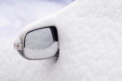 Snow covered car Stock Photography