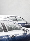 Snow covered cars Royalty Free Stock Photography