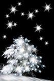 Snow-covered christmas tree Royalty Free Stock Photos
