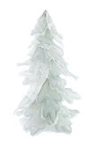 Snow-covered christmas tree. Isolated on white background Royalty Free Stock Photos