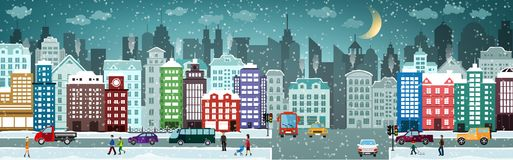 Winter cityscape Royalty Free Stock Images