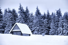 Snow Covered Cottage Royalty Free Stock Photo