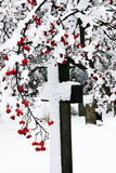 Snow covered cross Royalty Free Stock Photography
