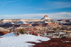 Snow covered desert canyons